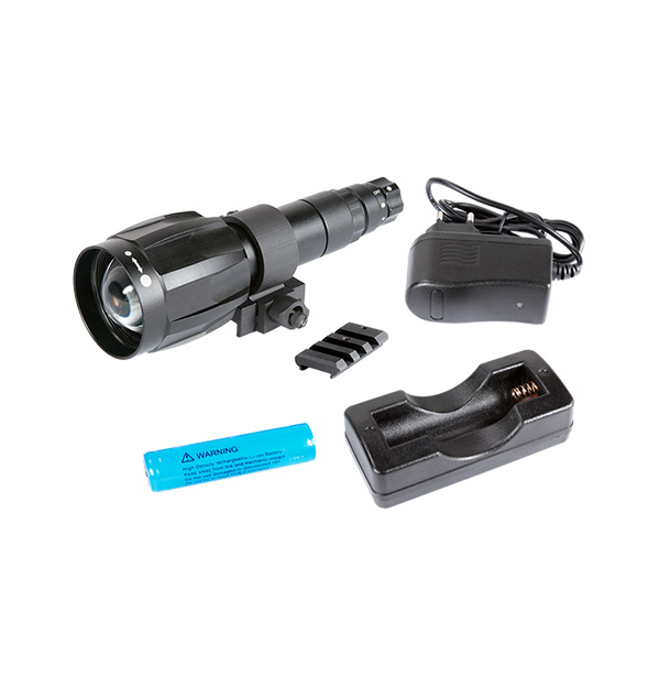 IR850-XLR Detachable LED Extra Long Range Infrared Illuminator w/Dovetail to Weaver Transfer Piece #21