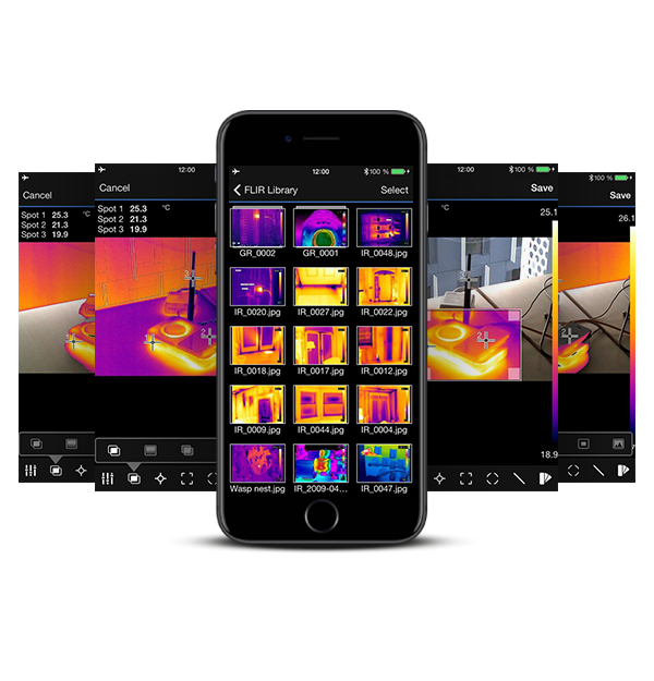 FLIR Tools App Thermal Analysis and Reporting (Mobile